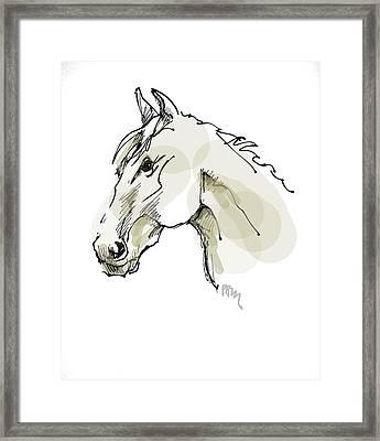 Head Sketch  Framed Print