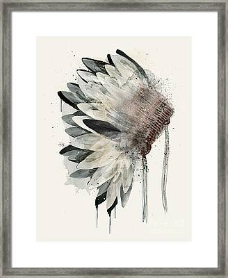 Framed Print featuring the painting Headdress by Bri B