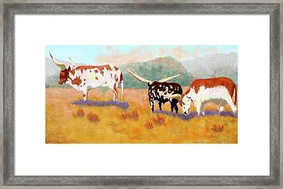 Framed Print featuring the painting Headed For The Barn by Nancy Jolley