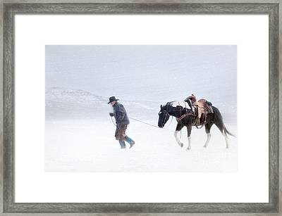 Headed Home Framed Print by Heather Swan