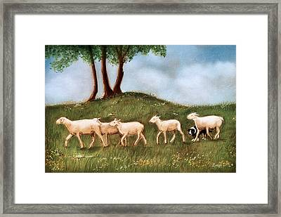 Framed Print featuring the pastel Headed Home by Jan Amiss