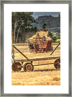 Headed To The Thresher 3423 Framed Print by Jerry Sodorff