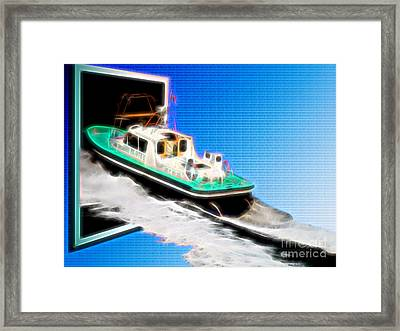 Heading Back To Sea Framed Print by Sue Melvin