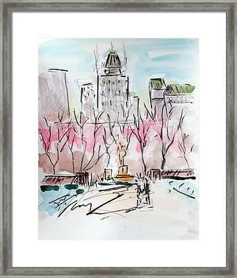 Heading Back To The Plaza Framed Print by Chris Coyne