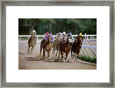 Heading For Home Framed Print by Linda Tenukas