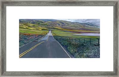 Heading For The Hills Framed Print