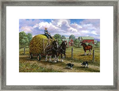 Heading For The Loft Framed Print