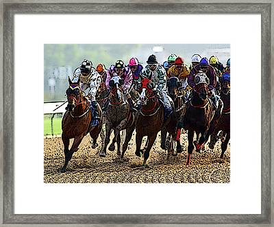 Heading For Thefinish Line Framed Print
