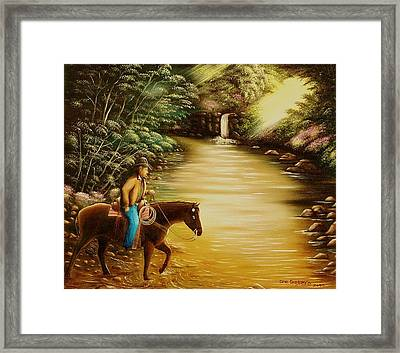Framed Print featuring the painting Heading Home by Gene Gregory