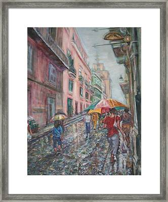 Heading Home In Havava Framed Print