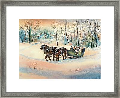 Heading Home Framed Print by Kathleen Berry Bergeron