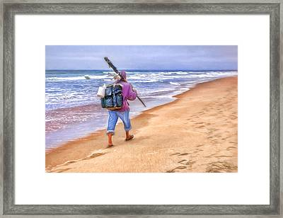 Heading Home - Ocean Fisherman Framed Print by Nikolyn McDonald