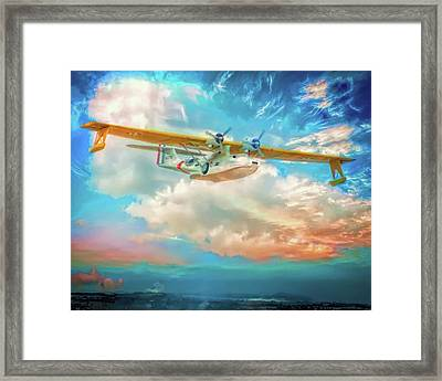Framed Print featuring the photograph Heading Home by Steve Benefiel
