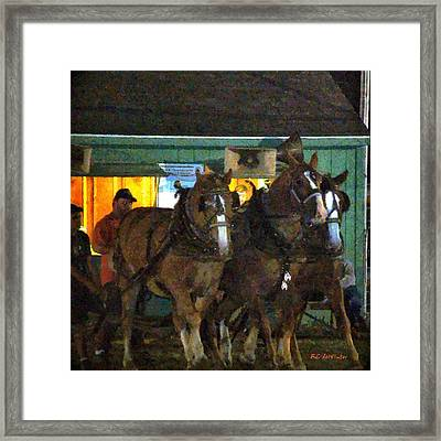 Heading Into The Ring Framed Print by RC deWinter