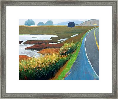 Framed Print featuring the painting Heading North by Gary Coleman