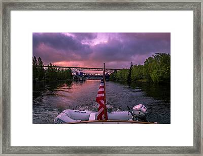 Heading Out From Lake Union Framed Print by Michael J Bauer