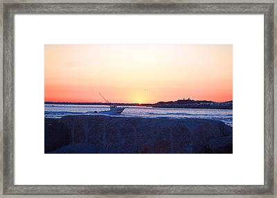 Framed Print featuring the photograph Heading Out by  Newwwman