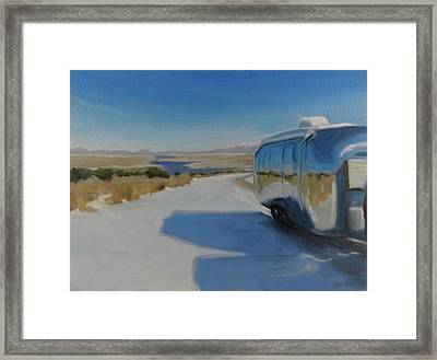 Heading South Out Of The Snow Framed Print by Elizabeth Jose