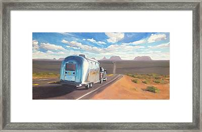Heading South Towards Monument Valley Framed Print