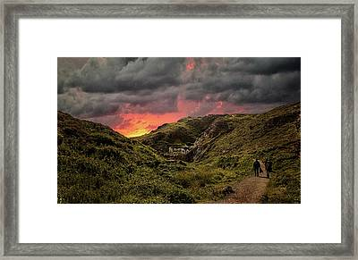 Heading To Beach Framed Print by Martin Newman