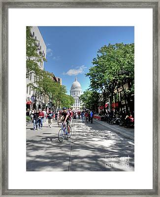 Heading To Camp Randall Framed Print