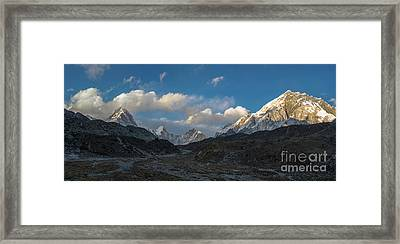 Framed Print featuring the photograph Heading To Everest Base Camp by Mike Reid