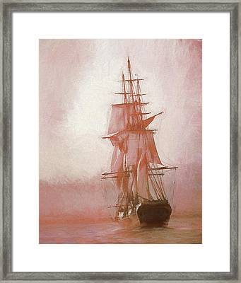Framed Print featuring the photograph Heading To Salem From The Sea by Jeff Folger