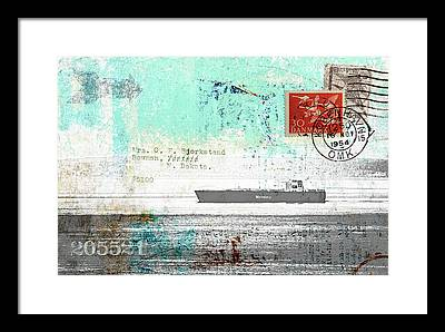 Freighter Framed Prints