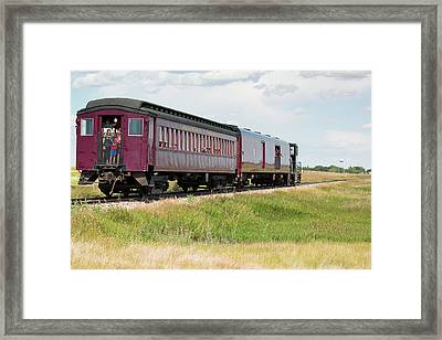 Heading To Town Framed Print