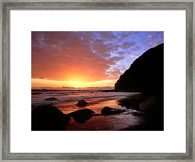 Headlands At Sunset Framed Print