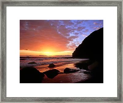 Headlands At Sunset Framed Print