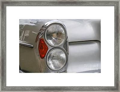 Headlights Of Vintage Car Framed Print by Patricia Hofmeester