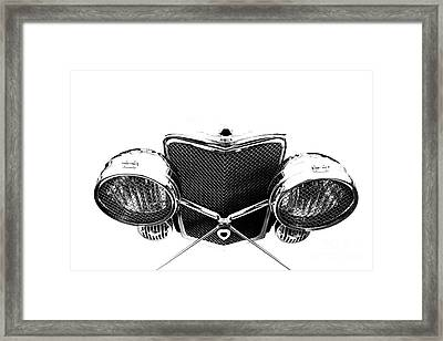 Framed Print featuring the photograph Headlights by Stephen Mitchell