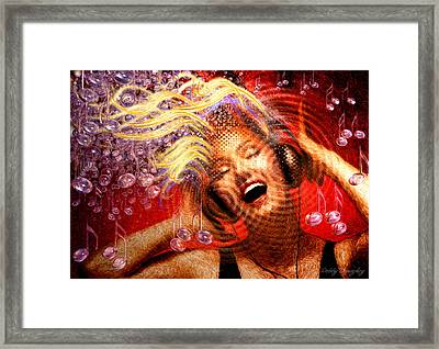 Headphones Framed Print