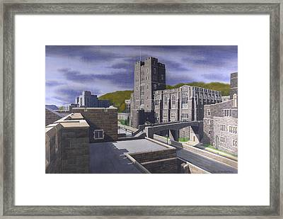 Headquarters Tower West Point Framed Print by Glen Heberling