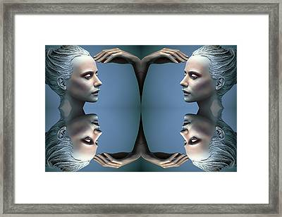 Heads As One Thought Framed Print
