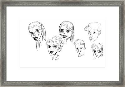 Heads Framed Print by Bogdan Floridana Oana