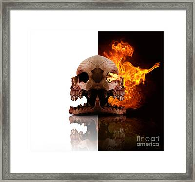 Heads Of Decay Framed Print
