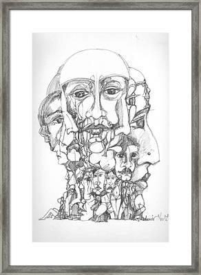 Heads Framed Print by Padamvir Singh