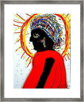 Headscarf Framed Print