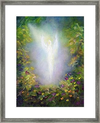 Framed Print featuring the painting Healing Angel by Marina Petro