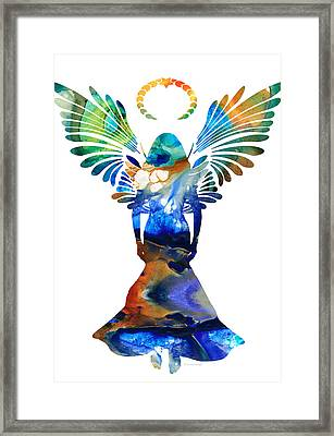 Healing Angel - Spiritual Art Painting Framed Print