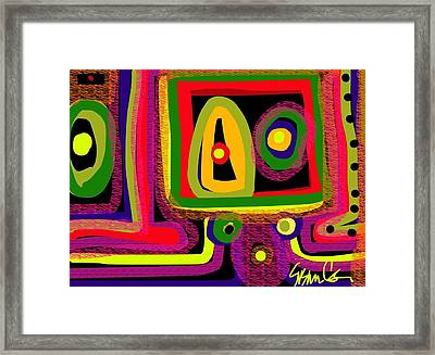Healing Eyes Framed Print