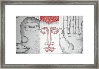 Healing Framed Print by Fei A