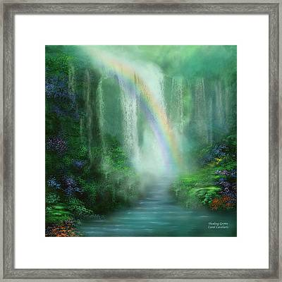 Healing Grotto Framed Print by Carol Cavalaris