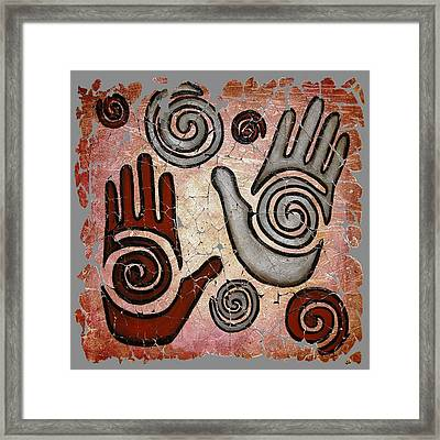 Healing Hands Fresco  Framed Print