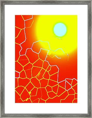 Healing-light No. 01 Framed Print