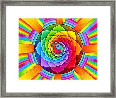 Healing Lotus Framed Print