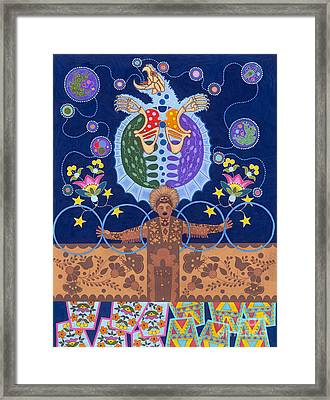 Framed Print featuring the painting Healing - Nanatawihowin by Chholing Taha