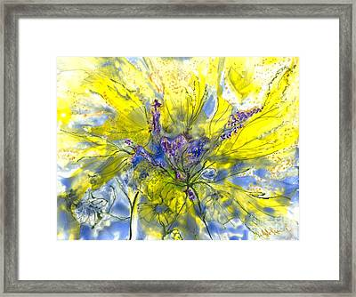 Healing Painting For Viet Framed Print by Heather Hennick